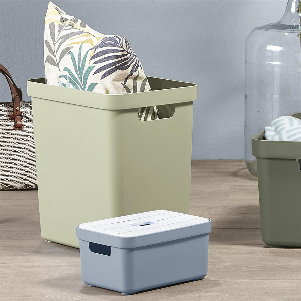 Sigma home storage box 25L green