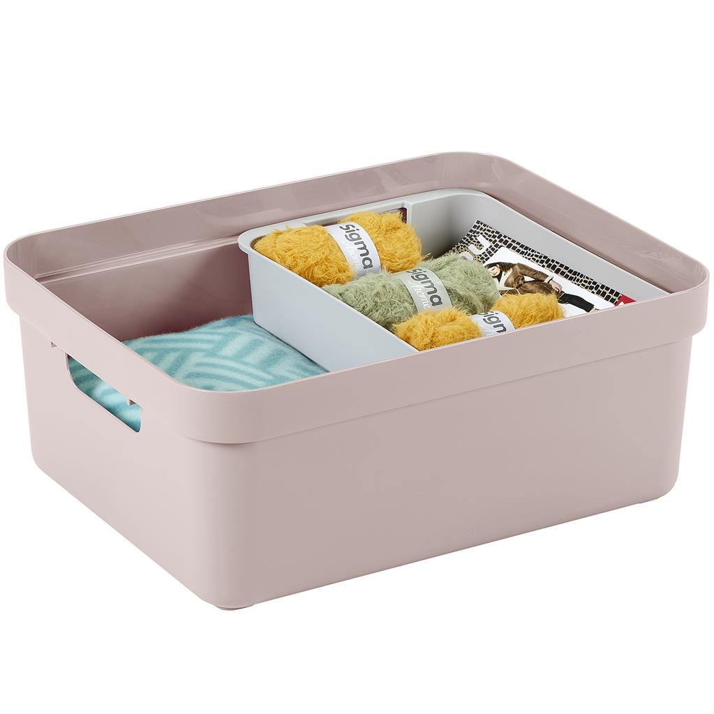 Sigma home storage box 24L pink