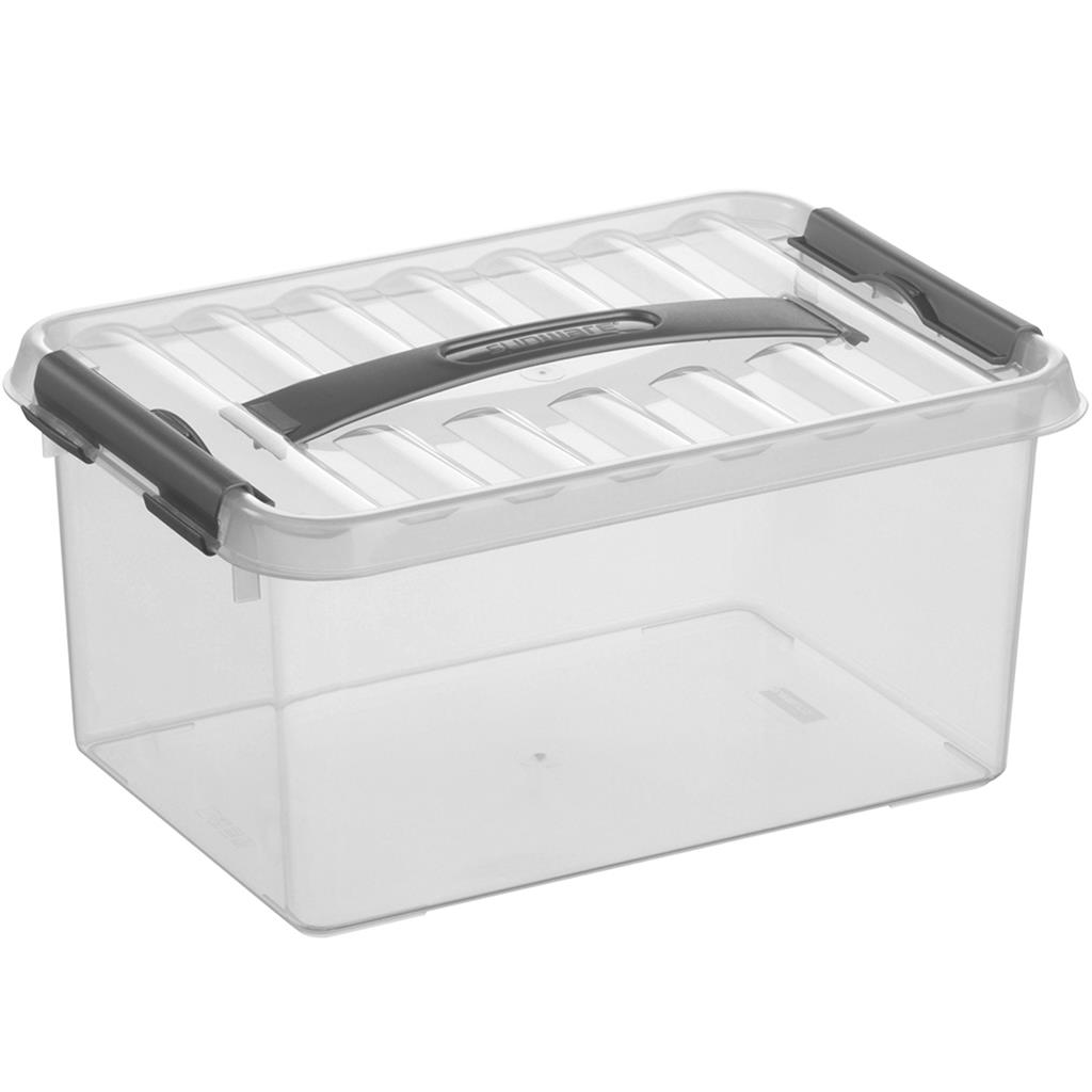 Q-line storage box 6L transparent metallic