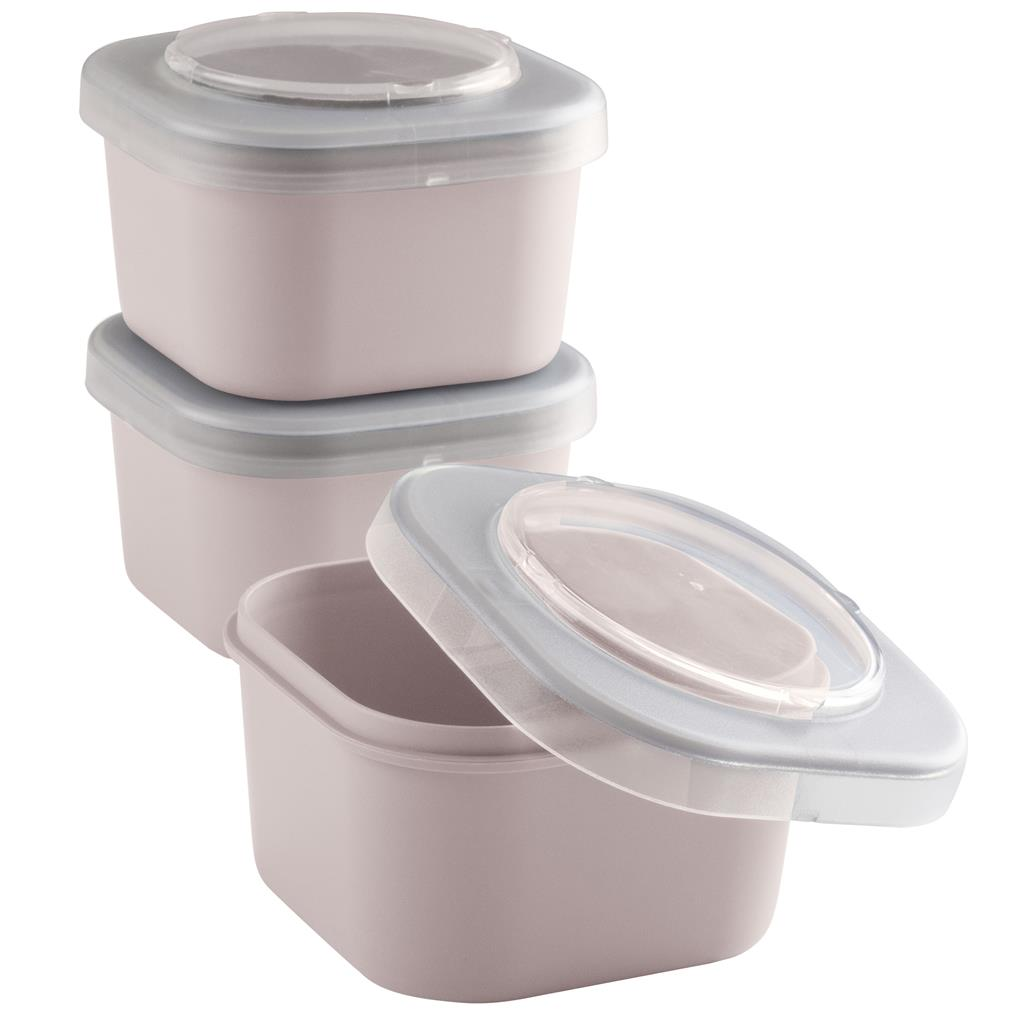 Sigma home Food to go lunchbakje set van 3 roze