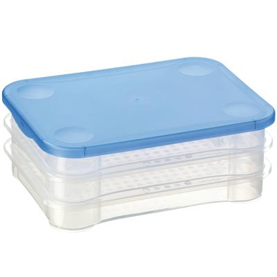 Club Cuisine Aufschnittdose 3er-Set transparent blau