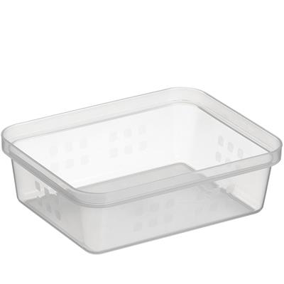 Square basket A6 transparent