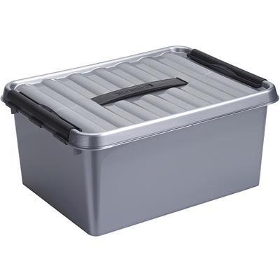 800 x 500 x 380mm SUNWARE Q-Line Box transparent//grau 120 Liter