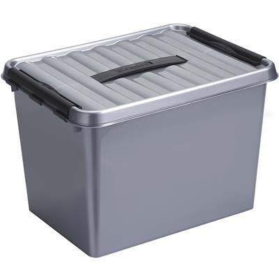 Q-line storage box 22L metallic black