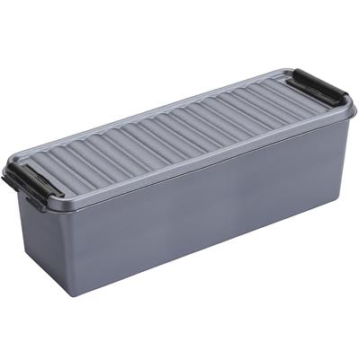 Q-line storage box 1.3L metallic black