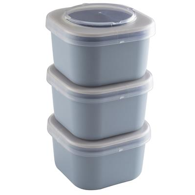 Sigma home Food to go lunchbakje set van 3 blauw