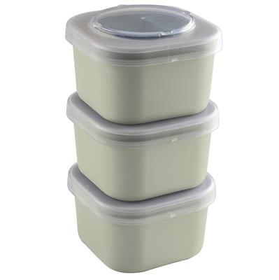 Sigma home Food to go lunchbakje set van 3 groen