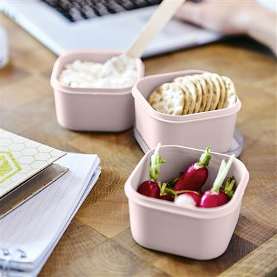 Sigma home Food to go Lunchbox 3er-Set rosa