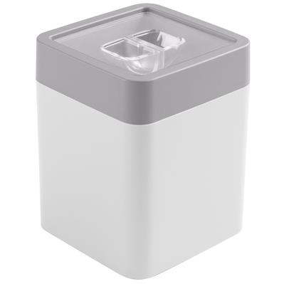 Sigma home food storage container 0.6L white grey