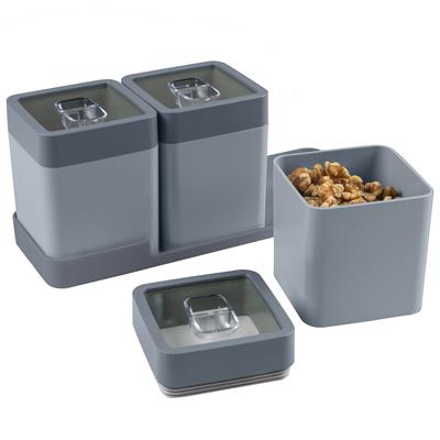 Sigma home dry food set 0.6L with tray blue dark blue